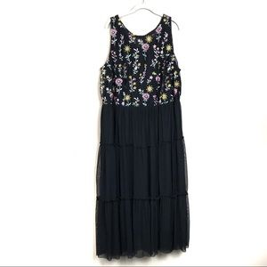 New with tags Lane Bryant black floral maxi dress